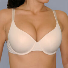 34D Beige Nude Perfect Fit Boost UR Bust SEAMLESS ADD 2 CUPS Sizes Push Up BRA