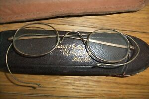 Vintage Spectacles / Glasses in Case and Leather Pouch