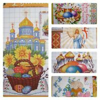 R-set Cross stitch Easter Patterns Set of 5 / DMC color Embroidery