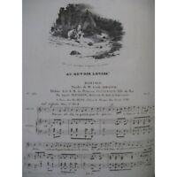 PANSERON Auguste Au revoir Louise Chant Piano 1830 partition sheet music score