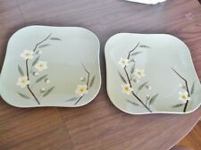 """Near MINT - Hand Decorated Plates, WEIR WARE """"Blossom"""",  9.5"""" Square"""
