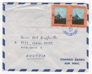 1977 EL SALVADOR Air Mail Cover SAN VICENTE to STADL-PAURA AUSTRIA Telecoms Pair