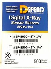 "DEFEND Digital X-Ray Sensor Sleeves 8""x1-5/8"" SIZE:2 500/BOX #BF-8000"