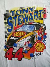 Tony Stewart #44 AUTOGRAPHED Shell Competitors View XL White NASCAR Shirt New