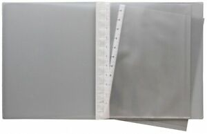 Sichtbuch Sichthüllenmappe Flexzip A4 farblos transparent 10 Hüllen nachfüllbar