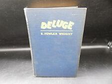 S Fowler Wright DELUGE vintage HC book 1928 Cosmopolitan 1st edition sci-fi RARE