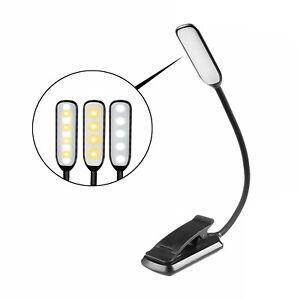 Infitronic wiederaufladbare 9 LEDs Leselampe Buchlampe Notenpultleuchte schwarz