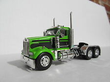 DCP 1/64 SCALE W-900 KENWORTH DAY CAB LIME GREEN WITH BLACK SEMINOLE STRIPE