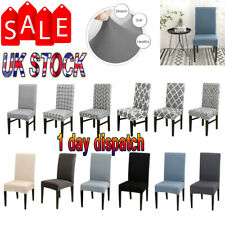 2/4/6PCS Dining Seat Chair Covers Slip Stretch Wedding Banquet Party Removable