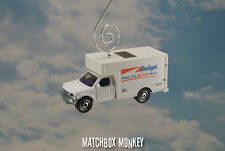 Budget Rental Moving Truck Custom Christmas Ornament 1/64 Delivery Box Movers