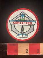 CERTIFIED (? Aircraft Mechanic ?) Aviation Airplane Patch 03WE