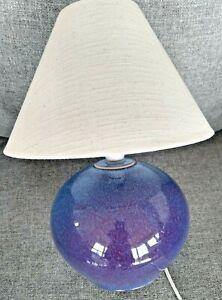DARTINGTON POTTERY TABLE LAMP. RUSKIN COLOURS