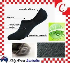 3 / 6 Prs Men Women Bamboo Non-slip Heel Grip Low Cut No Show Socks Invisible AU