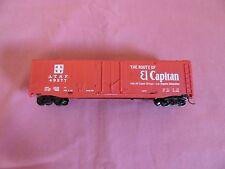 HO Scale Train Car -- Tyco 50ft A.T.S.F. Plug Door Box Car (Route of El Capitan)