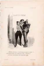 1847 GAVARNI LE CARNAVAL À PARIS INCISIONE ORIGINALE GRAVURE SUR BOIS XILOGRAFIA