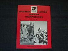 1980 CIF 4A, 3A, 2A and 1A Southern Section Baseball Championships program, CA