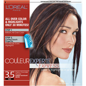 L'OREAL Couleur Experte Express 3.5 RED Cherry Chocolate Mousse - NIB & Sealed