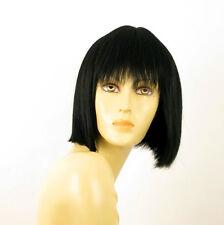 wig for women 100% natural hair black ref JACKIE 1B PERUK