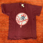 70s Russell Athletic NY Yankees Youth Uncle Sam Hat on Bat t-shirt small Single
