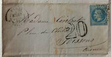 Enveloppe / Texte du 10/02/1871 - Napoléon 20c Bleu - Post Siège de PARIS