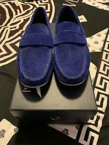 Blue Suede Size 40 Aquila Hoffman Loafers
