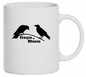Tasse Kaffeebecher   Hugin und Munin   118-T-   Odins Raben   Asgard   Wotan
