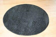 Black Glitter 3ft Circle Rug Oval Sparkle Rug Modern Speckled Glitter Rug