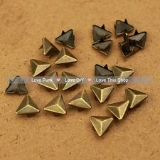150pcs 12mm Bronze Triangle Rivet Spike Punk Bag Belt Leathercraft DIY Rivets