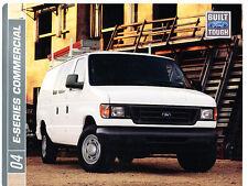 2004 Ford E-Series Cargo Commercial Van Dealer Sales Brochure - E-250 E-350