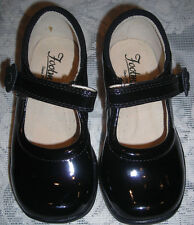 Footmates Black Patent Leather Courtney Girls Dress Shoes 5 M  Euro 20 ST# 70106