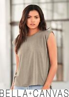 Bella + Canvas - Women's Flowy Muscle Tee with Rolled Cuffs - 8804 new