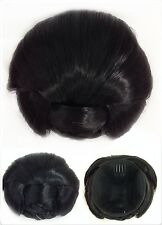 Perfect Braided Hair Bun,Hair Piece, Black, Jet Black 1#, Bridal Hair Tool