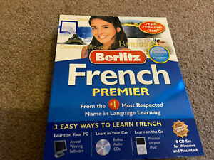 Berlitz Learn French Premier How To Speak Language Course PC Mac Listen Audio CD