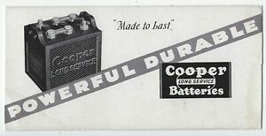 1930s COOPER BATTERIES- AUTOMOTIVE RELATED ADVERTISING BLOTTER