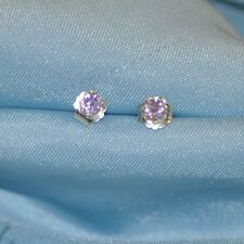 3.0MM ROUND EARTH MINED AMETHYST STUDS HANDCRAFTED IN STERLING SILVER
