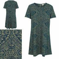 NEW RRP £45 Fat Face Simone Batik Linear Dress, Blue Sea