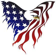 U.S. Flag # 11 - 8 x 10 Tee Shirt Iron On Transfer eagle
