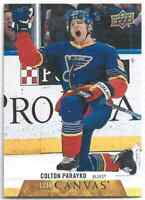 2020-21 Upper Deck Series 1 UD Canvas Colton Parayko #C70 Blues