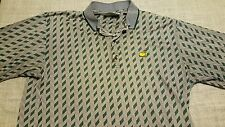 The MASTERS Collection Men's L Large Golf Polo Shirt AUGUSTA NATIONAL Geo B54