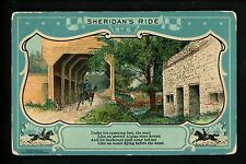 Military postcard Civil War Union General Sheridan's Ride #6