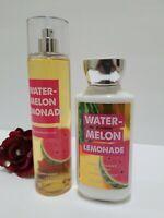 2 BATH & BODY WORKS WATERMELON LEMONADE FRAGRANCE MIST SHEA BODY LOTION 8 Oz
