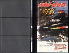 1998 SKI-DOO SNOWMOBILE TUNDRA II LT, S SERIES, SKANDIC WT OPERATOR MANUAL (514)