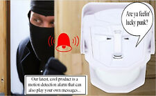 Talking Motion Detect Sensor Alarm Door Bell + Remote, Plays your  MP3 or WAV