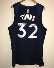 Karl-Anthony Towns Signed Inscribed Timberwolves Auto XL Jersey JSA & TOWNS COA