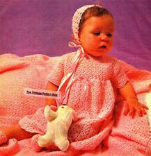 CROCHET LAYETTE 5 peices / birth to 6 months / 3ply - COPY baby crochet pattern