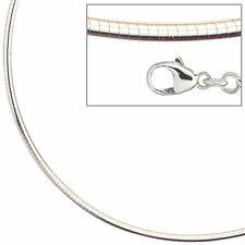 Halsreif 925 Sterling Silber 2,8 mm 45 cm Kette Halskette Silberhalsreif