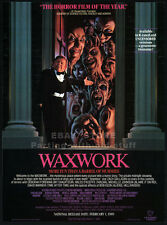 WAXWORK__Original 1988 Trade print AD movie promo__MICHELLE JOHNSON_DAVID WARNER