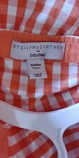 Stella Mccartney Kids for Gap Jacket Sz 5 Orange & White gingham
