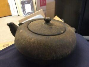 Antique signed Japanese iron ceremonial teapot No Reserve