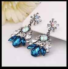 GORGEOUS ANTHROPOLOGIE CRYSTAL RHINESTONE EARRINGS -HOLIDAYS /PARTY/CRUISE